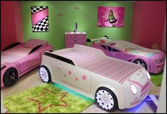 Kids Car Beds - Girls Mini Cooper Kids Car Bed