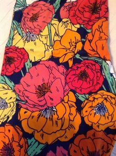 Lularoe Leggings TC Geometric UNICORN HTF Nwot Blue Red Orange Floral Flowers