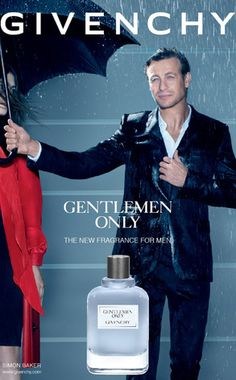 It's not food, but it's definitely drool worthy! Simon Baker, Givenchy Gentlemen Only Ad