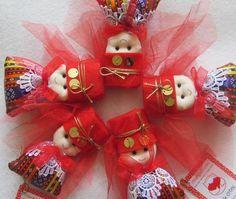 Kına bebekleri etnik elbiseli(magnet)