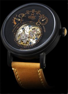 Xeric Xeriscope Black/Tan Automatic - Free Worldwide Shipping from Watchismo.com