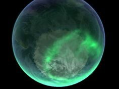 The Northern Lights from space.
