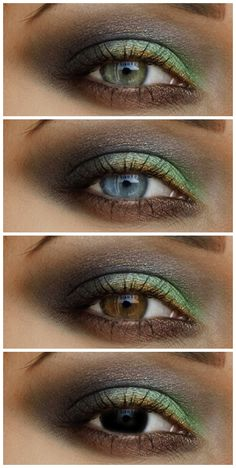 Special Koko : Forest Nymph Make-up: Shades of green & brown