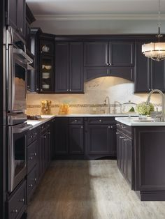 Corina Maple Graphite kitchen by Thomasville Cabinetry.