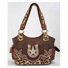 Western Purses And Handbags | Western Handbags > Leopard Star Western Handbag