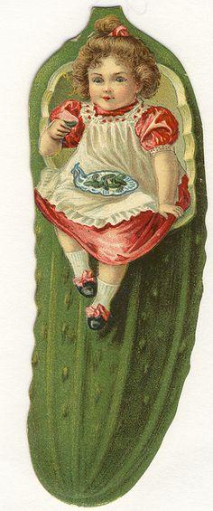 Ephemera ~ Heinz, Pickle Girl ~ Advertising Card