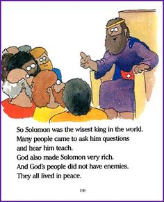 Solomon Asks God for Wisdom (Story) – Kids Korner - BibleWise