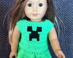 Minecraft Creeper American Girl 18 Inch Doll Clothes Outfit