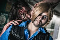 Leon S. Kennedy and Zombie Photo: FotoGeek