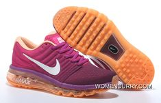 47af7c3ff660e1 Shop Nike Air Max 2017 Flyknit Women Orange Purple New Style black