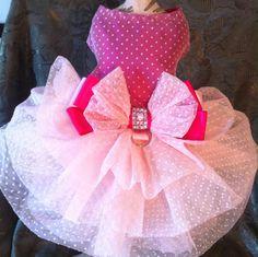 Pink  tutu Dog Dress with matching collar  by LaVitaPetFashion, $85.99