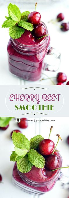 Cherry Beet Detox - filled with antioxidants, fiber and iron.