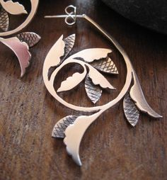 Alba earrings  Handcrafted Historical Ornament by AThousandJoys, $148.00