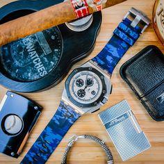 Audemars Piguet Royal Oak Offshore CHRONOGRAPHE 44mm Horus Straps Blue Camo