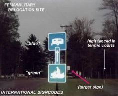 Secret Military Codes Hidden In Road Signs!! (Tacmars)  FEMA Camps
