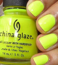 China Glaze Celtic Sun; jelly - shown over white