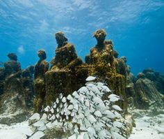 Museo Subacuático de Arte, Cancún, Mexico    British artist Jason deCaires Taylor's under-the-sea museum features more than 400 pieces molded from pH-neutral concrete and sunk in Cancún's National Marine Park off Isla Mujeres