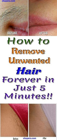 How to Remove Unwanted Hair in just 5 Minutes