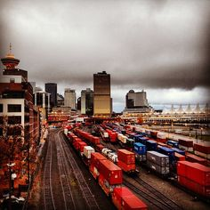 Good morning, Vancouver....and hello November!!   #grey #dark #cloudy #rainy #november #morning #vancouver #gastown #downtown #city #trains #traintracks #view  Read more at http://web.stagram.com/n/barberboss/#rTc3yICRb0Gqdeot.99 -@Farzad's Barber Shop  (Shelley Salehi) 's Instagram photos | Webstagram - the best Instagram viewer