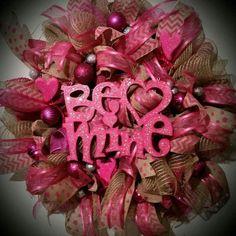 Romantic Handmade Wreath Idea In Gorgeous Pink Shade