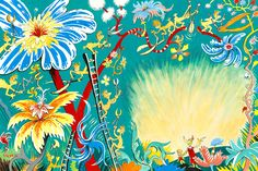 "New Dr Seuss Art! "" A Plethora of Flowers""!"