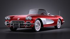 1958 C1 Corvette | Image Gallery & Pictures Chevrolet Corvette C1, 1958 Corvette, American Classic Cars, American Sports, Moto Quad, Little Red Corvette, Car Goals, Hot Cars, Cars And Motorcycles