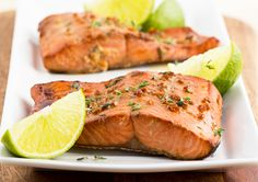 Lime-Marinated Broiled Salmon from our newsletter -- this easy recipe is designed to balance hormones and melt fat, perfect for both H-Burn and Phase 3.