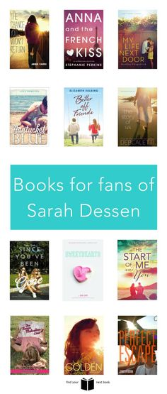 books for fans of sarah dessen