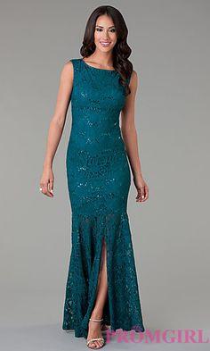 Sleeveless Floor Length Lace Dress