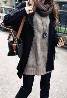 #fall #outfits / knit layers