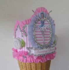 Ballerina Ballet Birthday  Crown  Hat  Adult or by glamhatter, $24.00