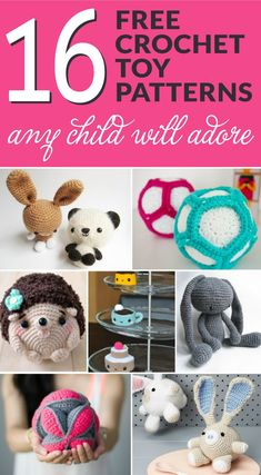 Need a cute crochet birthday gift or something for a baby shower? Your in luck, check out this list of 16 Free Crochet Toy Patterns Any Child will Adore!
