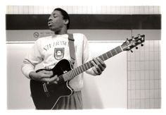 Larry, musician, photographed on the Boston MBTA Subway Platform circa 1999-2000