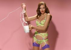 #AgentProvocateur mixes things up with colorful #sexy #lingerie for #spring2014…#pinup #style