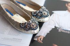 "Glittery ""Persian Lawrence"" ballet flats by Le Bunny Bleu + Get them here: http://shop.lebunnybleu.com/collections/ballet-flats/products/persian-lawrence-flats-ballet-flats"