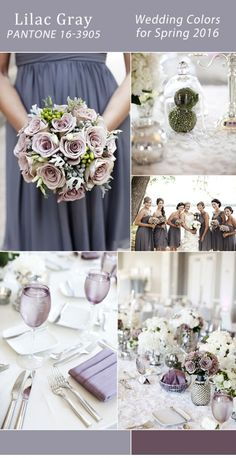 lilac gray and amethyst purple wedding colors spring 2016