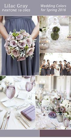 серый и сиреневый аметист фиолетовый свадебные цветы весны 2016