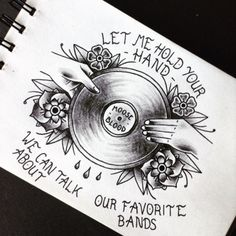 Moose Blood- Swim Down Hand Tattoos, Cool Tattoos, Tatoos, Lyric Tattoos, Movie Tattoos, Record Player Tattoo, Moose Blood, Punk Tattoo, Pop Punk