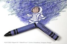 You never know what might come out of a broken crayon. #3 in a series.