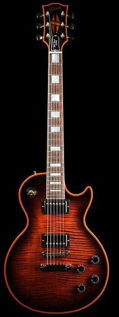Gibson Les Paul Custom in Orange Sunburst Easy Guitar, Guitar Tips, Guitar Art, Music Guitar, Cool Guitar, Acoustic Guitar, Playing Guitar, Gretsch, Mundo Musical