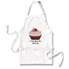 Love this personalized cupcake apron, which reads Cupcakes By Brenda - that's me! It can celebrate cupcakes by you, too.