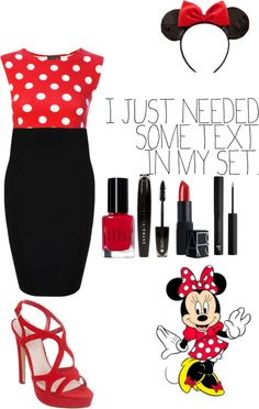 """""""Minnie Mouse inspired"""" by xo-vanilla ❤ liked on Polyvore"""
