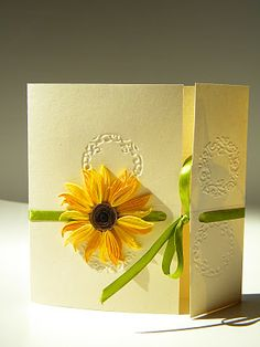 Quilling by Anca Milchis: Sunflower wedding invitation