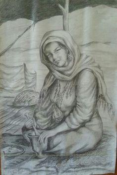 سحر الشرق رسم بالفحم