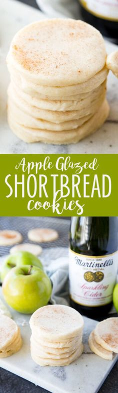 Martinelli's Apple Glazed Shortbread Cookies are a buttery soft shortbread cookie with a subtle apple flavor, glazed with additional apple. Best Dessert Recipes, Apple Recipes, Fall Recipes, Just Desserts, Cookie Recipes, Delicious Desserts, Yummy Food, Top Recipes, Beef Recipes