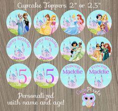 Disney Princess Cupcake Toppers Disney Princess by CutePixels