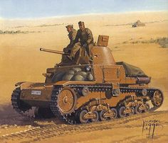 Carro Medio del Regio Esercito in Libia North African Campaign, Tank Armor, Empire Romain, Italian Army, Afrika Korps, Military Armor, Military Pictures, Ww2 Tanks, World Of Tanks
