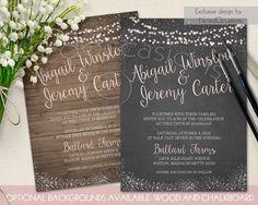 Rustic Wedding Invitation String Lights par NotedOccasions sur Etsy