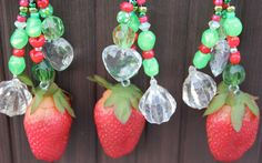 Strawberry Fruit Tablecloth Weights Set of 4