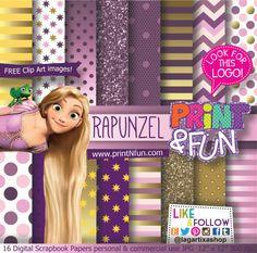 #rapunzel #fondos #goldpaper #purplepatterns  http://www.printnfun.com/store/p17/Rapunzel_Tangled_Digital_Paper_Patterns.html